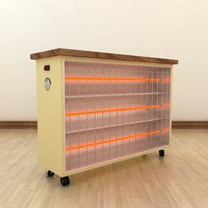 infrared quartz heater 3d model