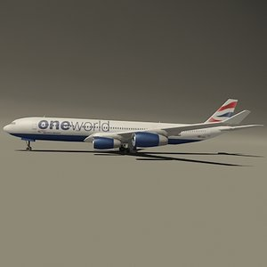 airbus british oneworld 3d model
