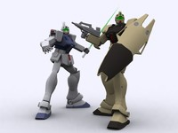 Gundam Gm 79D and 79SP