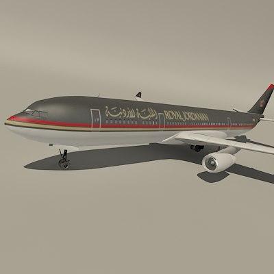 airbus royal jordanian 3d model