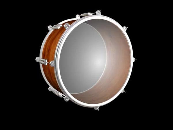 classical caza drum 3d model