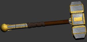 free paladin hammer 3d model