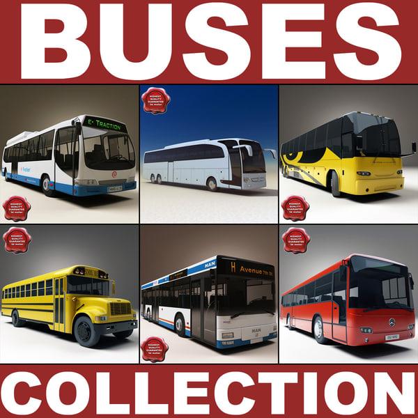 buses v2 bus school 3d model