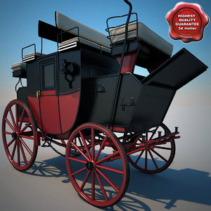 carriage modelled 3d model