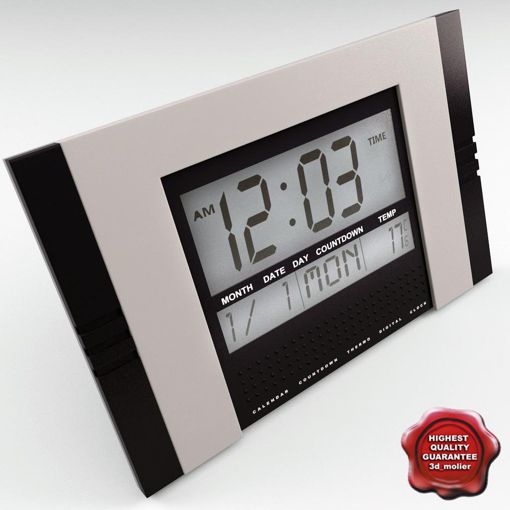 digital clock v2 3d model