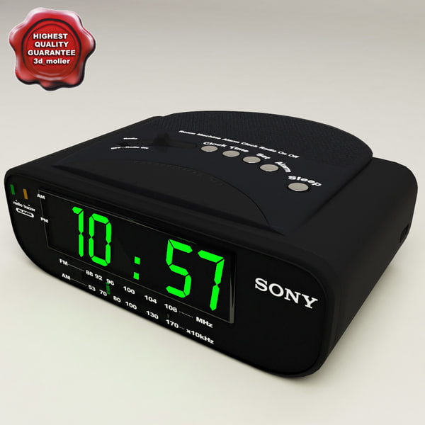 digital clock radio 3d model