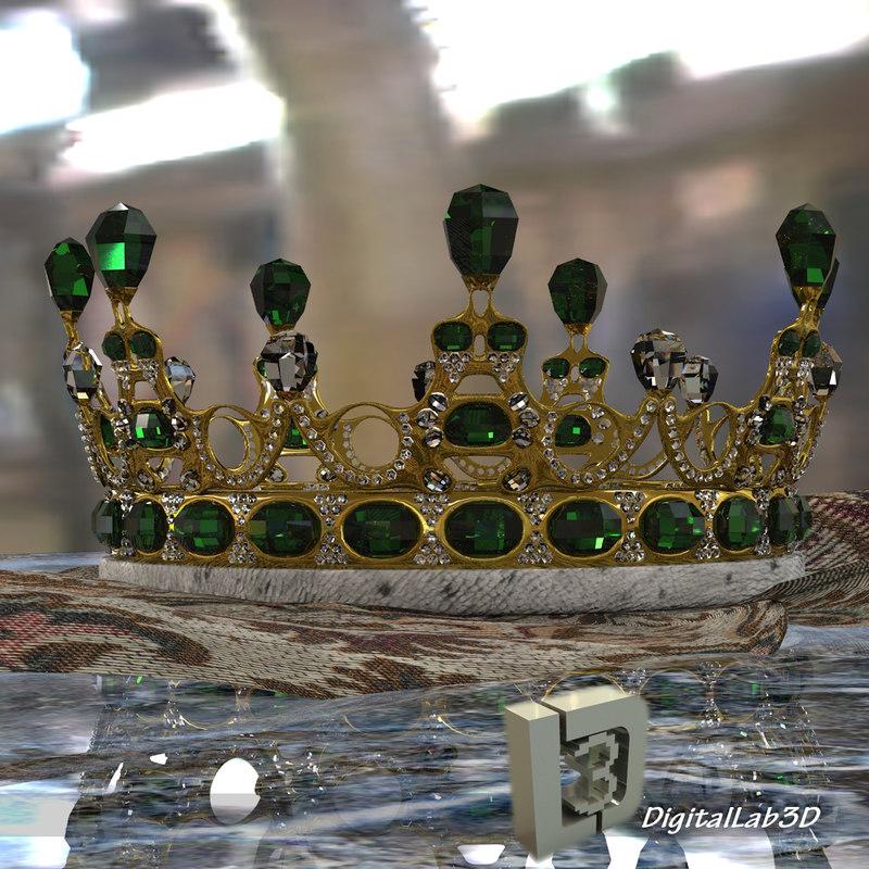 emerald crown 3d model