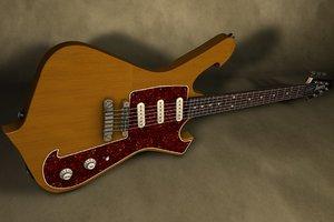 paul ibanez fireman guitar 3d model