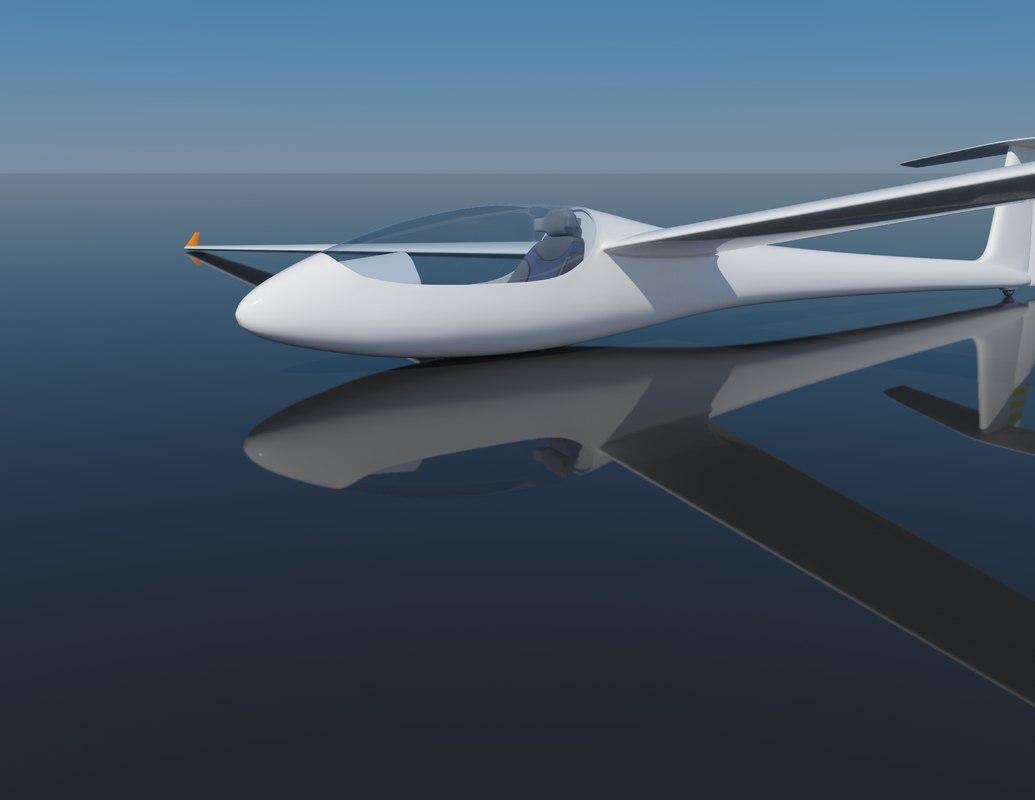 sailplane glider 3d model