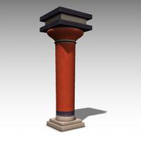 free obj model minoan columns