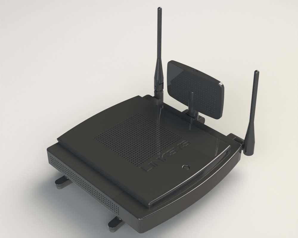 linksys router 3d model
