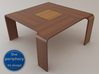 axial wooden table max free