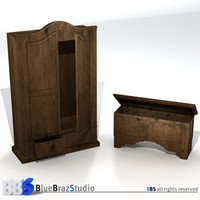 closet chest 3d model