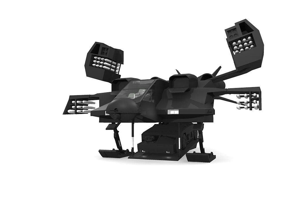 ship dropship apc 3d model