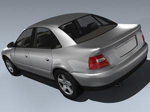 2001 audi a4 3d model