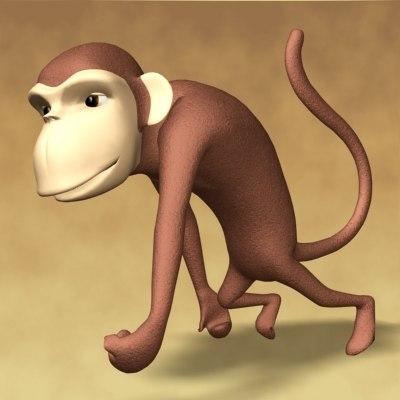 monkey animation 3d model