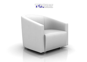 calia scarlett armchair 3d model