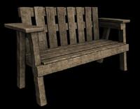 classic park bench 3d model