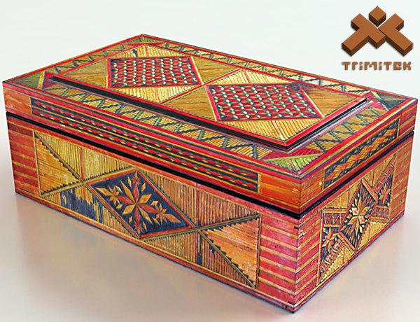 old decorative box 3d model