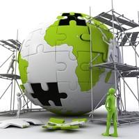 puzzle globe construction