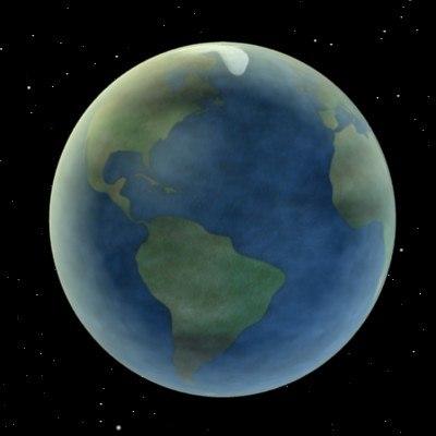 stylized planet earth 3d model