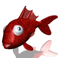 goldfish cartoon 3d model