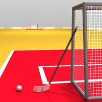 floorball ball 3d model