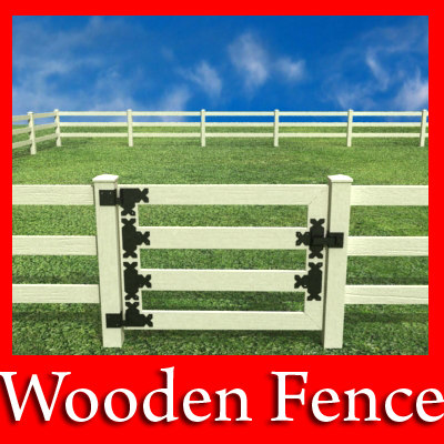 wooden fence wood 3d model