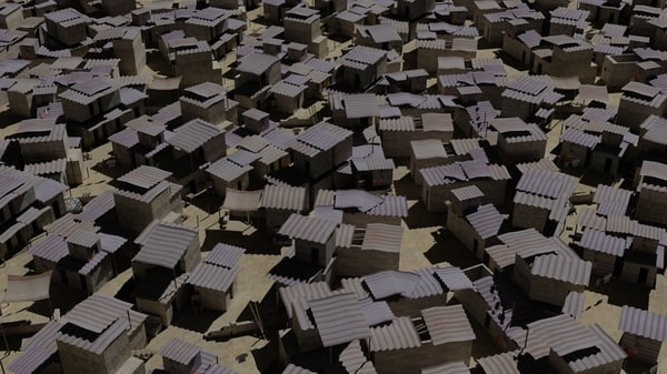 middle slum 3d model