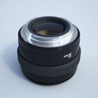 50mm lense - 3d model