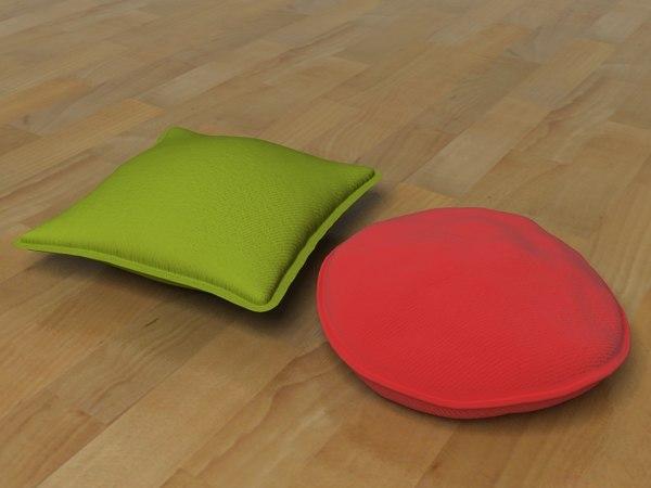 pillows cushions 3d model