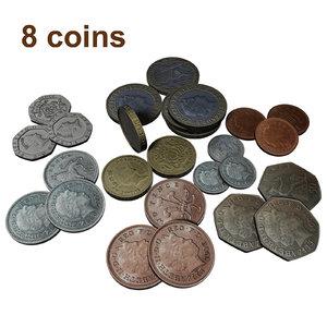 british coins 2005 3d model