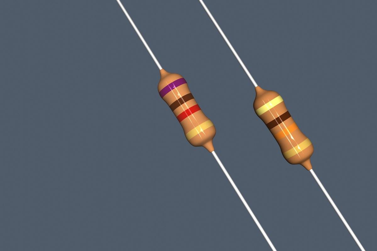 carbon resistors 3d model