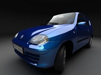 seicento small car 3d model