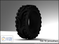 tire wheels 16 3d model