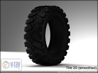 tire wheels 20 3d model