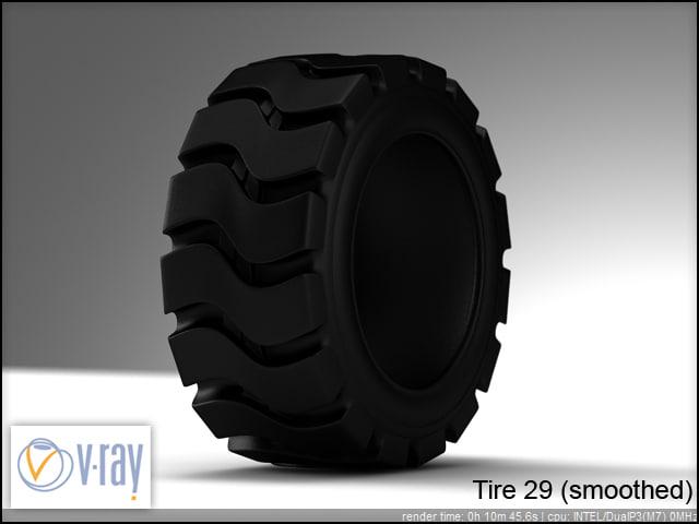 tire wheels 29 3d model