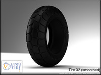 tire wheels 32 3d model