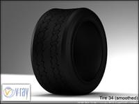 tire 34 3d model
