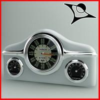 clock retro 3d model