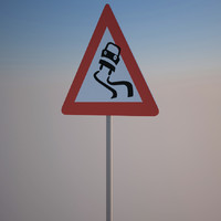 hazard sign 3d model