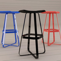 patch barstool 3d model