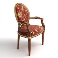 rich armchair 3d model