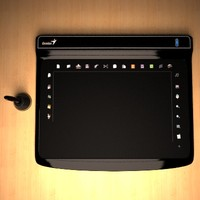 g-pen tablet 3d model