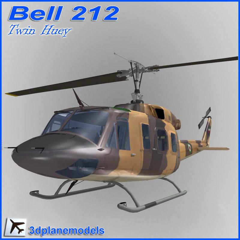 bell 212 3d model