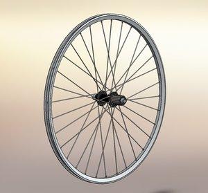 wheel rear mountain bike 3d model