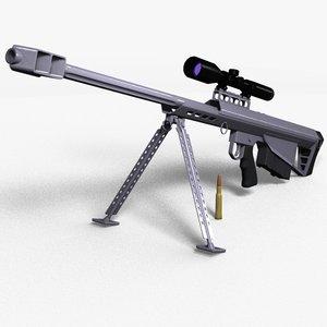barrett m90 sniper rifle 3d model