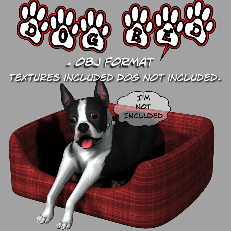 bed dog 3d model