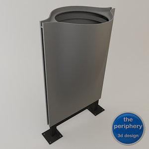 aesthetic wastebasket 3d model