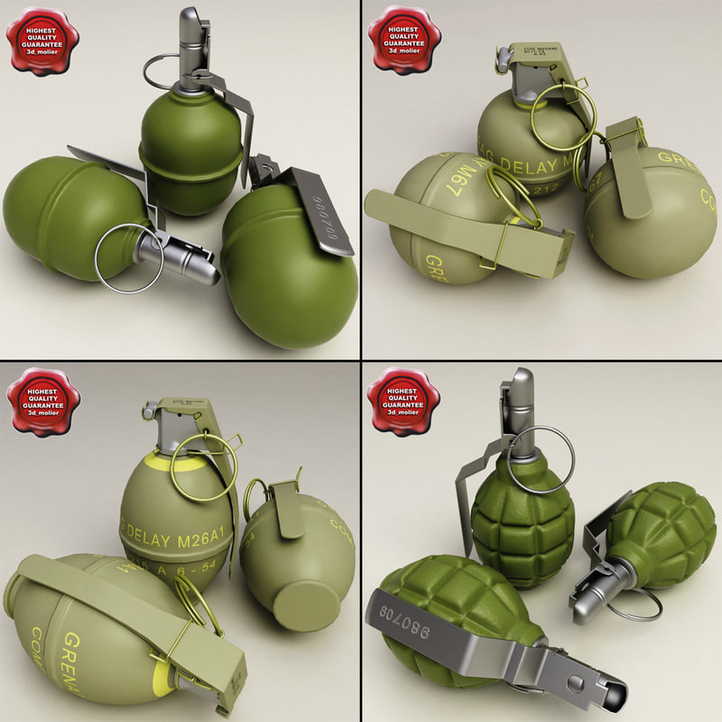 grenades 1 f 3d model